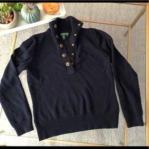 Ralph Lauren Navy turtle sweater